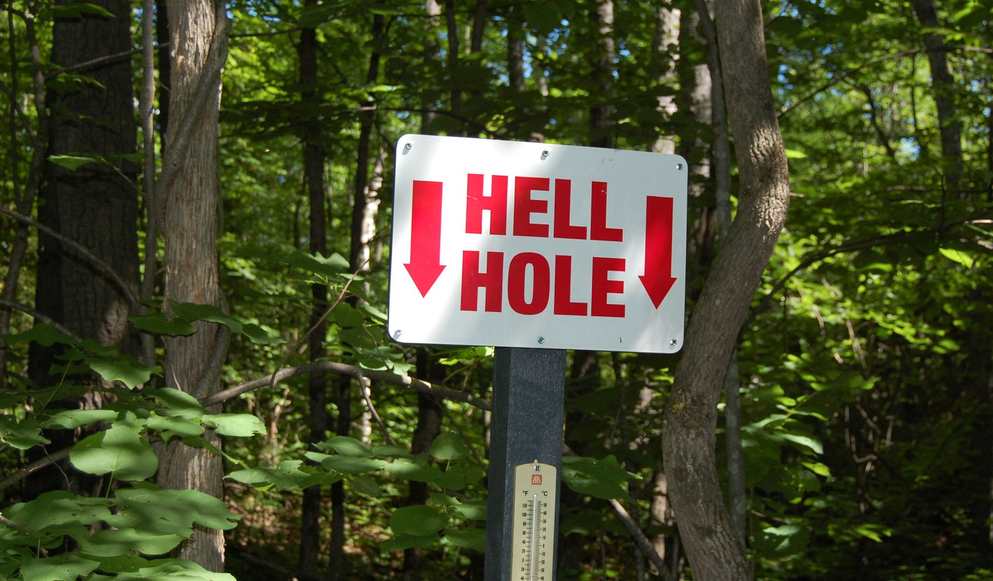 Hell Holes sign