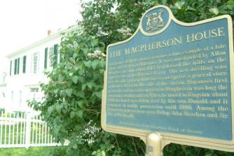 Allan Macpherson House and plaque