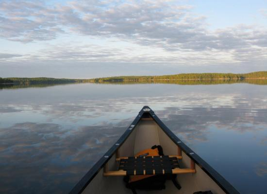 Mazinaw Lake on a canoe