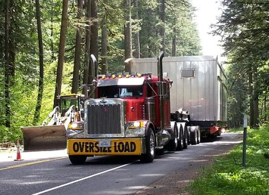 oversized load transport on highway