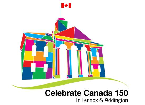 Celebrate Canada 150 in Lennox and Addington Logo