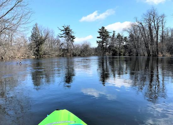 Spring Kayaking on the Napanee River