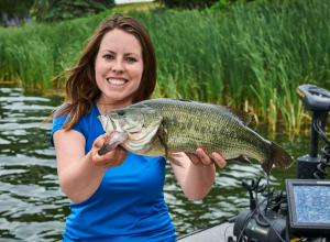 Ashley with a Largemouth