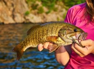 Ashley with a Smallmouth