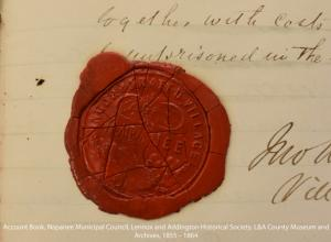 Village of Napanee Incorporated wax seal